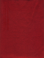 handmade knitted pattern red