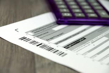 Eine Steuererklärung