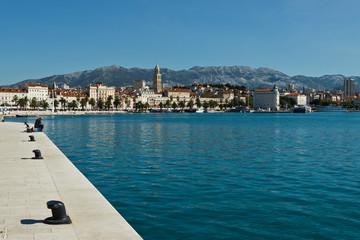 Aluminium Prints City on the water Blick auf Split, Kroatien