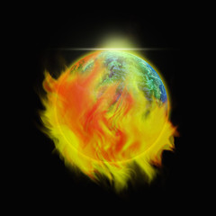 End of the World - Elements of this Image Furnished by NASA