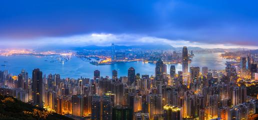 China Hong Kong City view from Peak