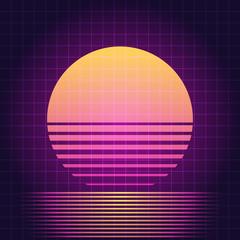 Retro Sci-Fi sunset