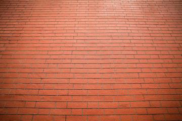Red brick floor background.