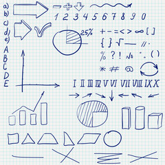 Mathematics Sketch in a school notebook.