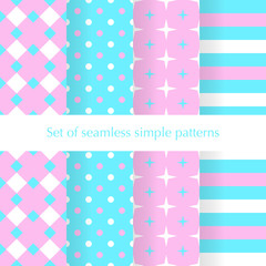 Seamless ancstract geometry pattern with stars, squares, dots an