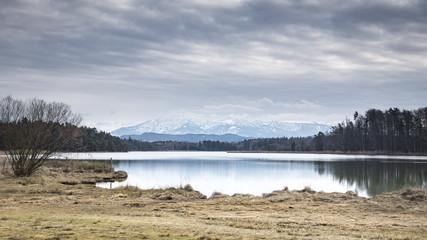 Osterseen winter scenery