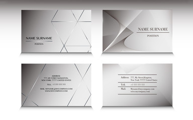Set of business card template in Minimalist style