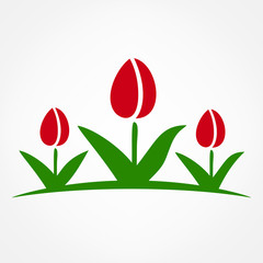 Tulips symbol vector illustration