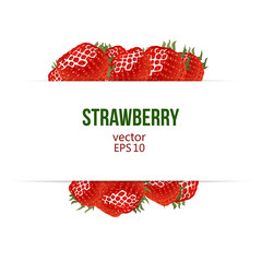 Strawberry border and place for your text