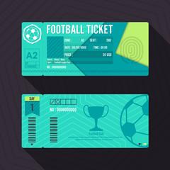 Football Ticket Material Design. Vector illustration.