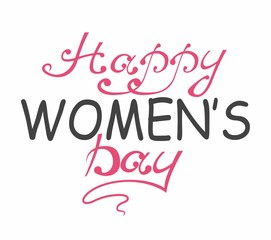 International Women's Day. Text 8 March for celebration greeting card design. Happy Women's Day. Vector Illustration