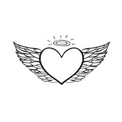 Angel heart sketch