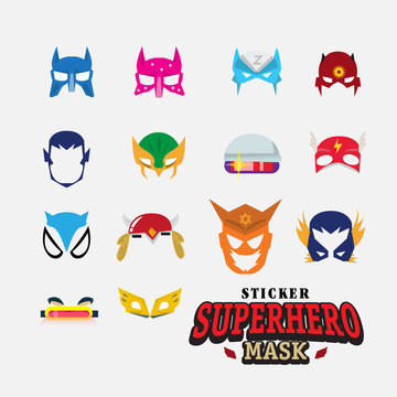 hero mask. face character - vector