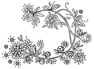 vegetative ornament flowers