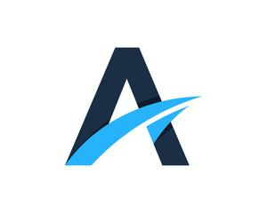 Letter A Creative Logo Design Element