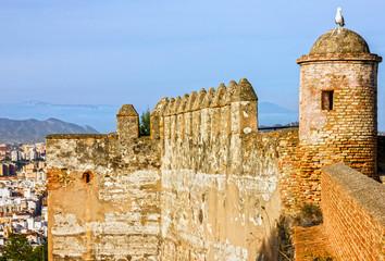 Malaga, Spain. Gibralfaro Castle, fortress