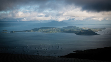 Panorama of lake Taal