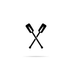 Icon boat oars.