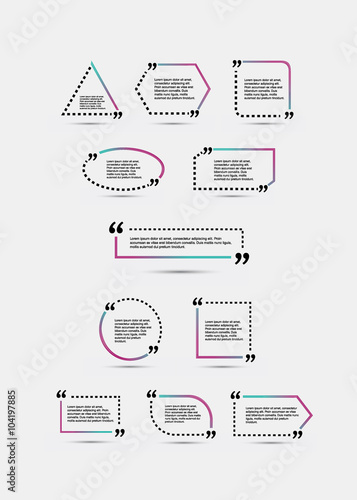 quote blank template template vector eps 10 set empty quote bubble