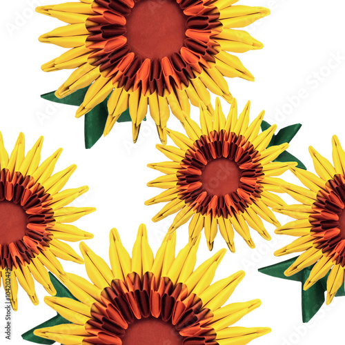 Origami Sunflowers Group Stock Photo And Royalty Free Images On