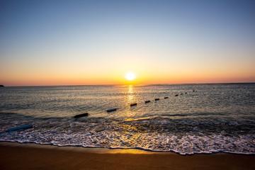 Traumhafter Meerblick am frühen Morgen