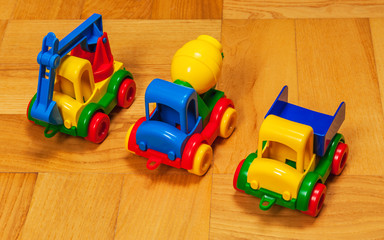 three toy cars