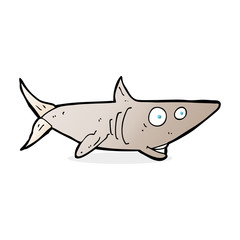 cartoon happy shark