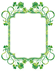 Beautiful floral frame. Raster clip art.