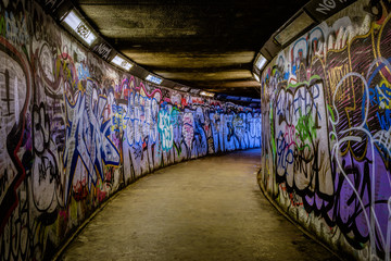 Photo sur Aluminium Graffiti Subway Graffiti