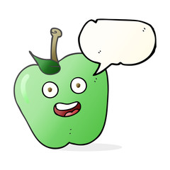 speech bubble cartoon apple