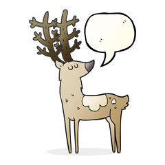 speech bubble cartoon stag
