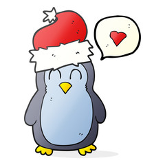 speech bubble cartoon penguin