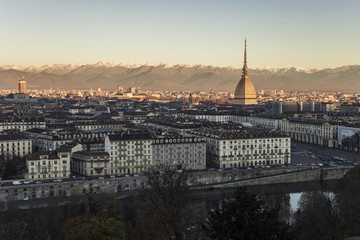 Sunrise  in  Turin, Italy