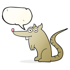 speech bubble cartoon rat