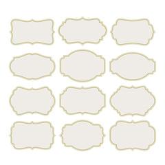 Set vintage labels frame. Vector illustration