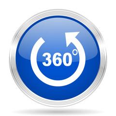panorama blue silver metallic metallic chrome web circle glossy icon