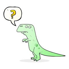 speech bubble cartoon confused dinosaur