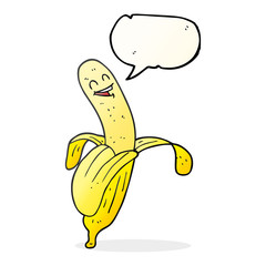speech bubble cartoon banana
