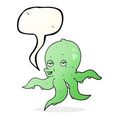 speech bubble cartoon octopus