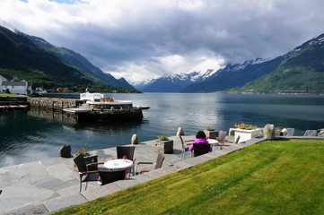 Relaxing at the fjord