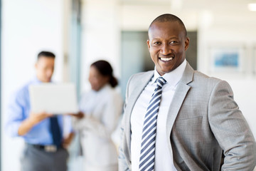 african corporate worker in office