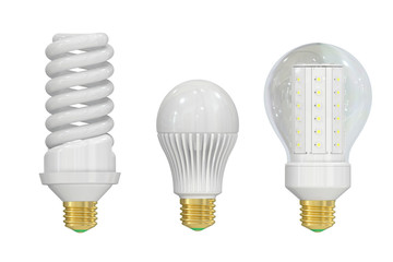 LED (Light Emitting Diode) and saving lamps