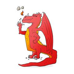 cartoon happy dragon