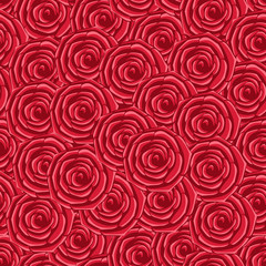 seamless texture, red roses
