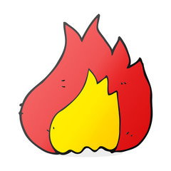 cartoon flame
