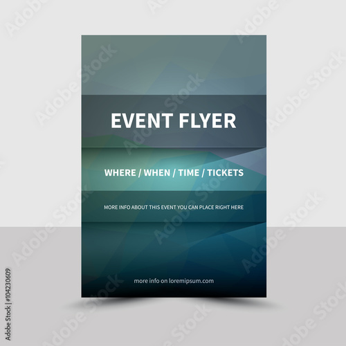Event Flyer Brochure Template Vector Poster Book Leaflet With - Event brochure template