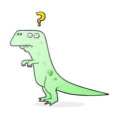 cartoon confused dinosaur