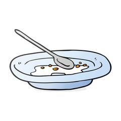 cartoon empty cereal bowl