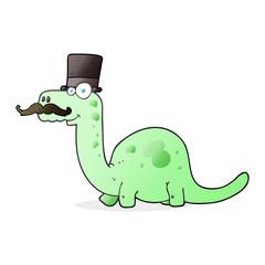 cartoon posh dinosaur