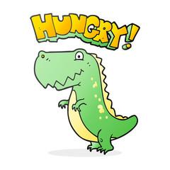 cartoon hungry dinosaur